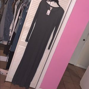 Long Gray Maxi Dress